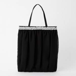 Select Shop チュール×パールサブバッグ ブラック