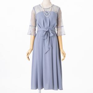 Select Shop ジョーゼットウエストリボンドレス