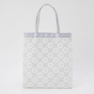 Select Shop フラワー刺繍ラメサブバッグ シルバー