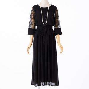 Select Shop レースリボン切替ロングドレス