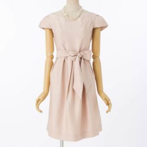 【授乳マタニティー】シャンタンキャップスリーブドレス/4,980円