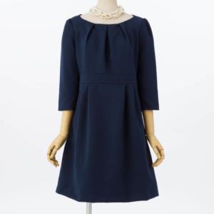 【授乳マタニティ】グログラン7分丈ドレス/4,980円
