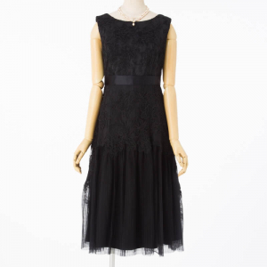 GRACE CONTINENTAL グレースコンチネンタル チュールプリーツ切替ドレス