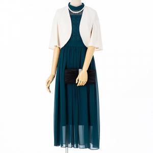 Je super 【ドレス3点セット】ジュシュペール ニードルレースドレス ブルーグリーン