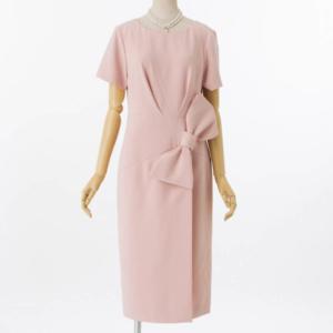グレースコンチネンタルのリボン切替ドレープのレンタルドレス