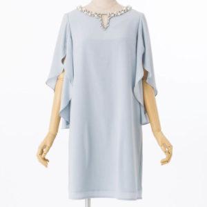 グレースコンチネンタルバタフライスリーブドレス