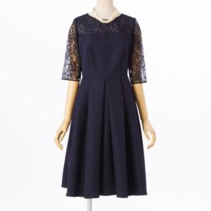 エメダミアレース7分袖のレンタルドレス