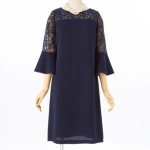 Jesuperジュシュペールのラッパ袖レースドレス