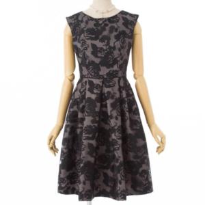 Aimerエメの花柄オパール加工ドレス