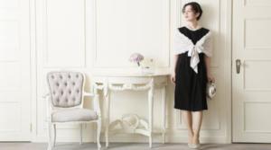 GRACECONTINENTALグレースコンチネンタルのジョーゼットドレープドレス
