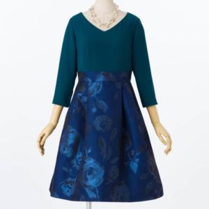 GRACECONTINENTALグレースコンチネンタルのジャガードタックドレス