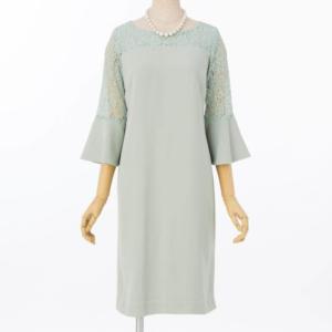 ジュシュペールラッパ袖レースのレンタルドレス