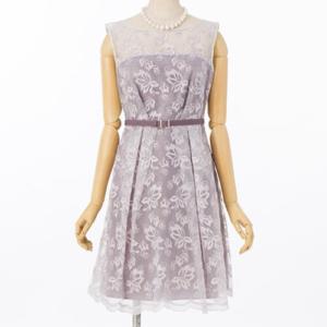 ジルスチュアートモアレースフレアのレンタルドレス