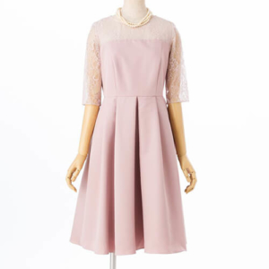Aimer エメ ダミアレース7分袖ドレス