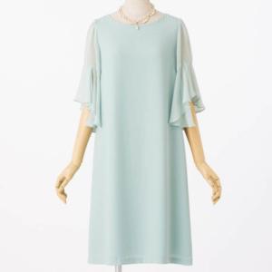 エメのラッフルスリーブジョーゼットのレンタルドレス