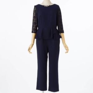 アプレジュールレーススリーブペプラムパンツドレスのレンタル商品