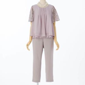 アプレジュールフレアレーススリーブパンツドレスのレンタル商品
