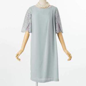 Jesuperジュシュペールの袖レースタックドレス
