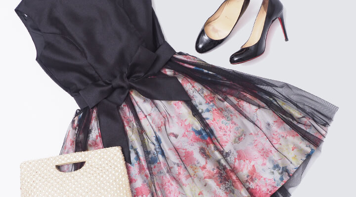 [トレンド]春夏はチュールスカート!今すぐ着られる結婚式ドレスコーデ