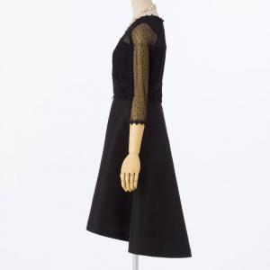 Je super ジュシュペール チュール5分袖ドレス