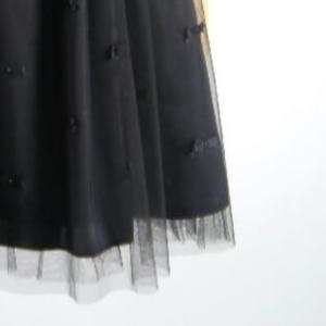 チュールスカートの裾アップ