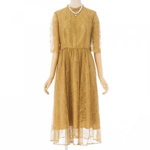 ラッセルレース7分袖ロングドレス