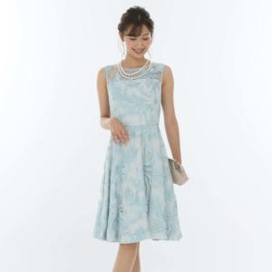 Gracecontinentalグレースコンチネンタルのフェザーチュール刺繍ドレス