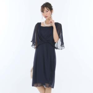 ジュネビアンのシフォンサイドタックドレス