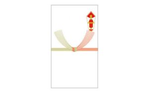 欠席の場合の印刷ご祝儀袋の図