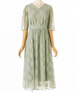 Aimer エメ フラワーブーケレースドレス