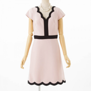ケイトスペード スカラップショートスリーブドレス
