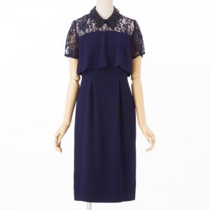グレースコンチネンタル オーガン刺繍襟ドレス