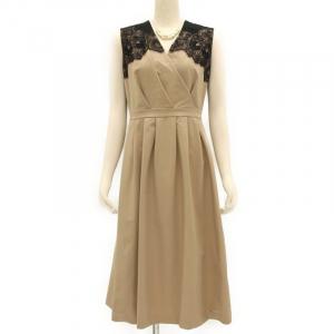 UNITED ARROWS ユナイテッドアローズ レースVネックドレス
