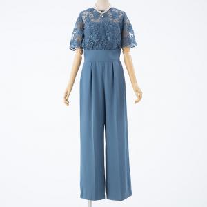 LAGUNAMOON ラグナムーン LADYオーバーレースワイドパンツドレス ブルー/M