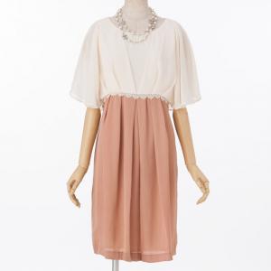 Select Shop 【授乳マタニティー】シフォン配色ドレス