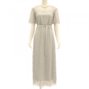 FURFUR ファーファー マリンモチーフ刺繍ドレス グレー/S-M