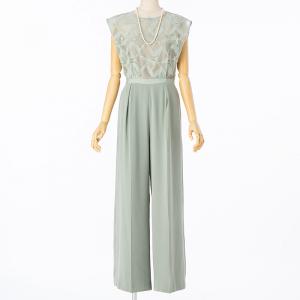 LAGUNAMOON ラグナムーン LADYトライアングルパターンパンツドレス ミント/M
