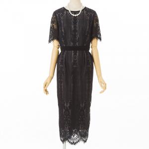 Aimer エメ パネルレースタイトドレス ブラック/S-M