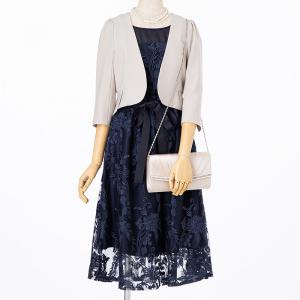 Select Shop 【ドレス3点SET】ネイビー/S-M