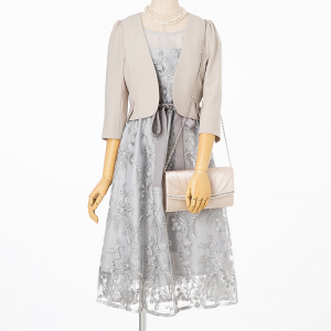 Select Shop 【ドレス3点SET】グレー/S-M