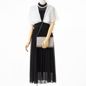 Je super 【ドレス3点セット】ジュシュペール ニードルレース切替ドレス ブラック/M-L