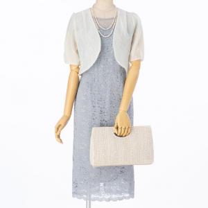 Je super 【ドレス3点セット】ジュシュペール  総レーススカラップ裾ドレス サックス/M
