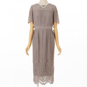 Aimer エメ パネルレースタイトドレス