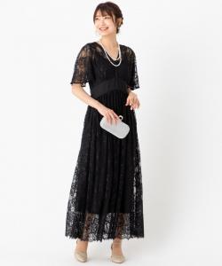 SNIDEL スナイデル ビッグリボンスイッチングレースドレス