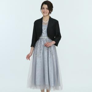 Select Shop 【ドレス3点SET】刺繍レース シルバー
