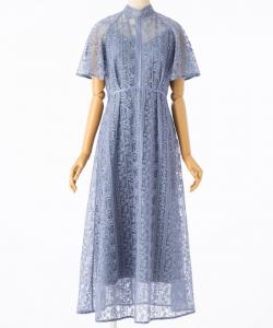 FRAY I.D フレイアイディー フローティング刺繍ドレス