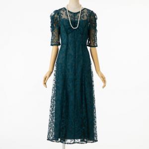 フレイアイディー エンブロイダリ―ドレス