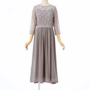 グリーンレーベル リラクシング  レースギャザースカートドレス