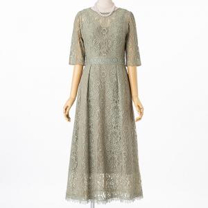 Select Shop クラシカルレースドレス ライトグリーン