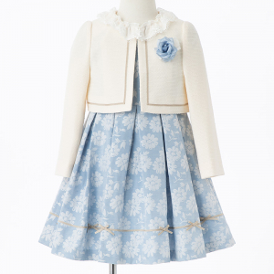 CHOPIN 【キッズスーツ3点SET】ショパン ホワイトベージュ×サックスブルー